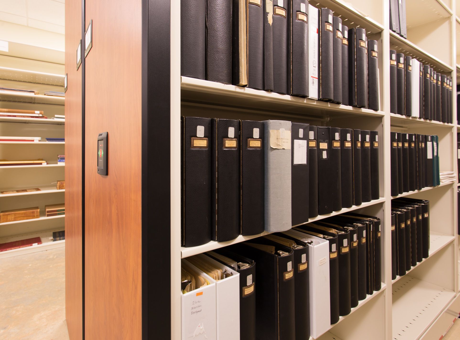 archival record storage at George Washington library
