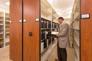 archival storage at the George Washington Library