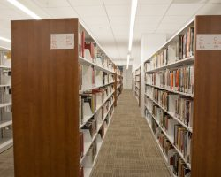 compact shelving at daniel morgan graduate school