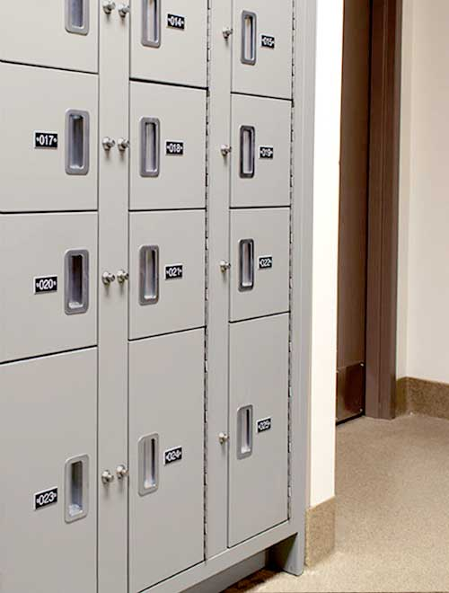 Campus Police Evidence Storage Lockers