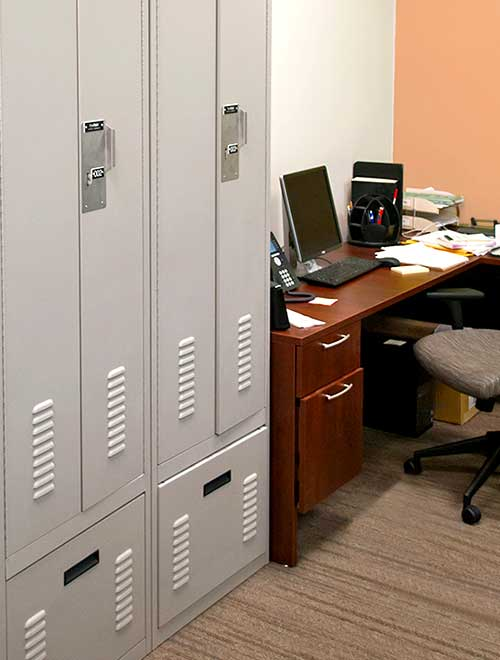 Campus Police Personal Storage Lockers