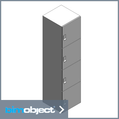 BimObject - Revit Files for Day Use Lockers