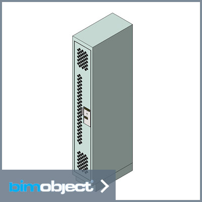 BimObject Locker Full Single Door Mesh Download