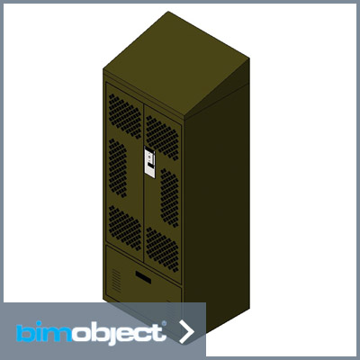 BimObject Locker Double Door Download