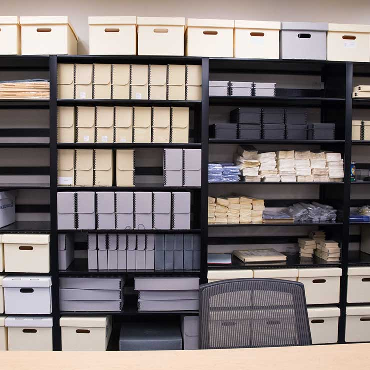library storage organization - compact material storage