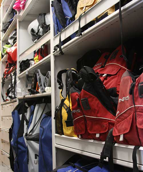 Rec Center Equipment Storage