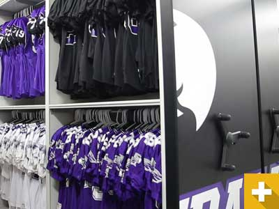 University Football Equipment Storage
