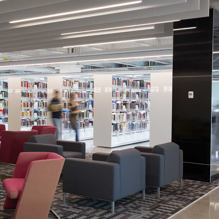 college library - student study flexible spaces