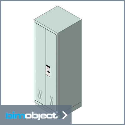 Download BimObject Locker Full Double Door