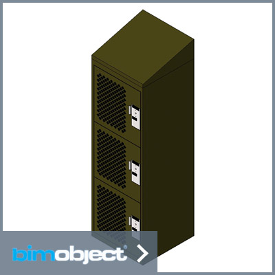 Download BimObject Personal Storage Locker Single Door Mesh Slope Top