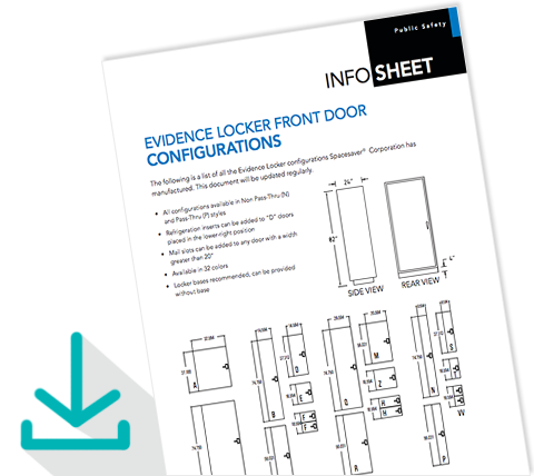 Download Info Sheet Evidence Locker Front Door Configurations