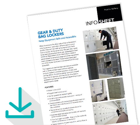 Download Infosheet Gear Locker for Duty Bag