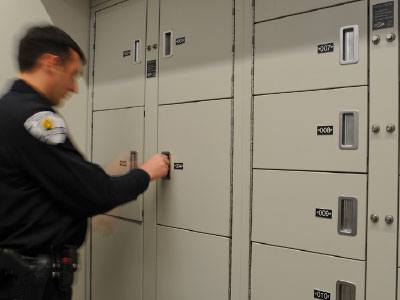 campus security evidence locker