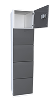 day use locker - 5 tier