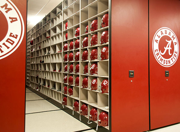 football equipment storage university of alabama