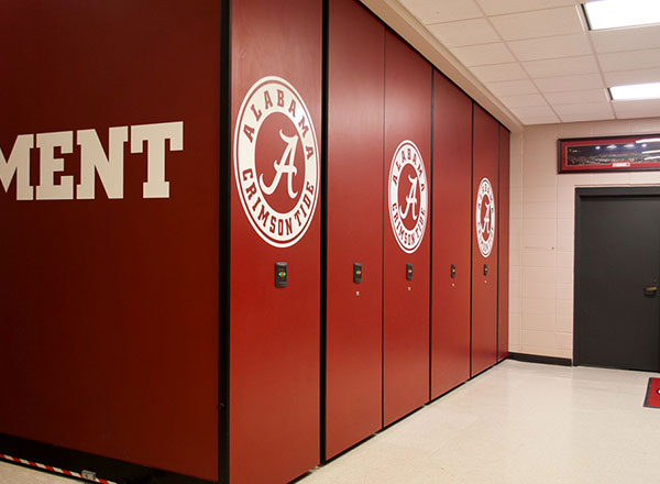 football secure mobile shelving Alabama crimson tide