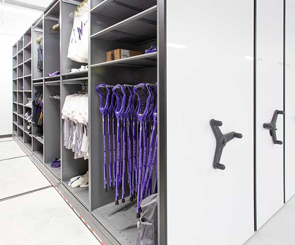 olympic sports area athletic gear storage
