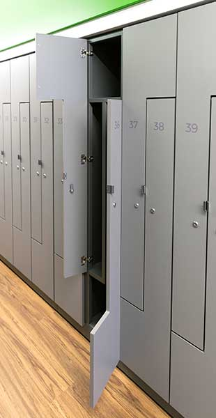 compact optimize space office locker