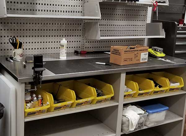 makerspace workstation material storage solutions