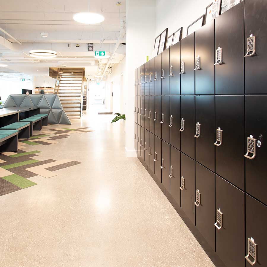 office locker 3-tier day use lockers