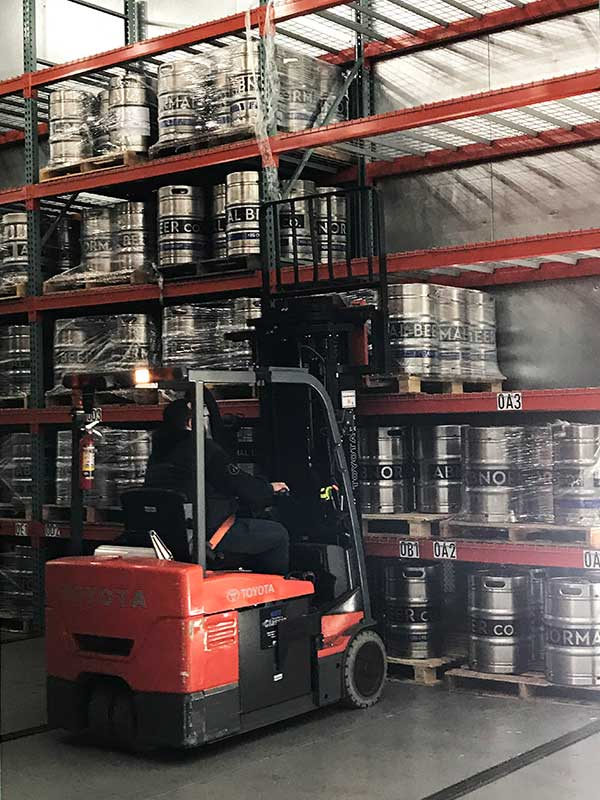 fork lift pallet heavy-duty beer storage