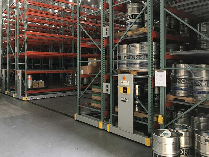 heavy-duty mobile storage pallet racking abnormal beer