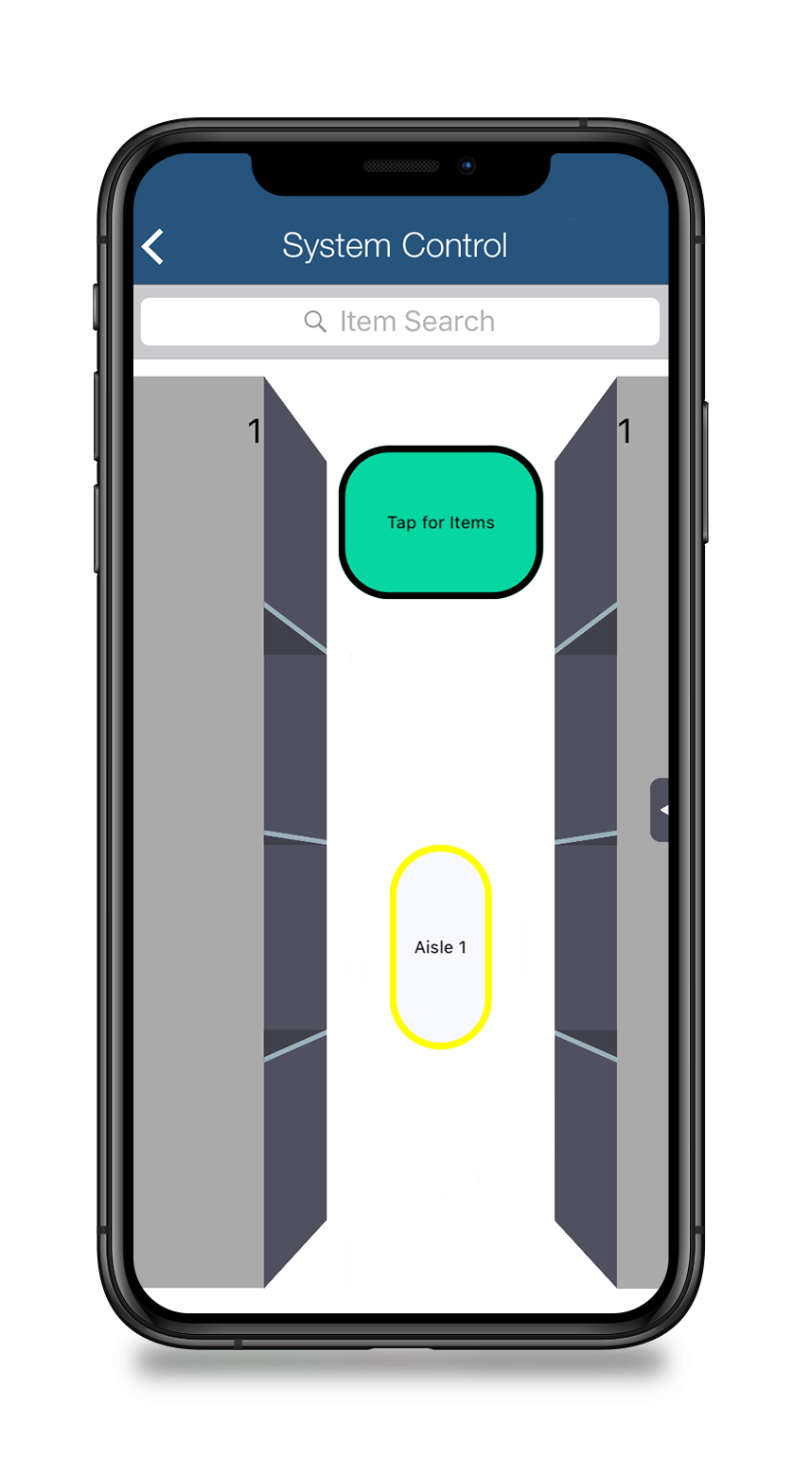 mobile system bluetooth control moving aisle