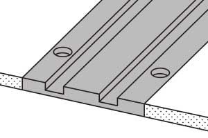 vertical mobile racking in floor rail