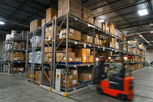 industrial heavy duty mobile shelving system