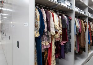 museum clothing collection hanging compact storage