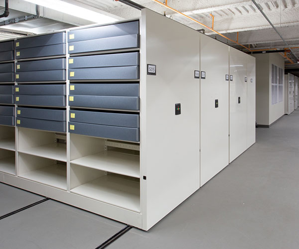 off-site museum collection mobile shelving storage