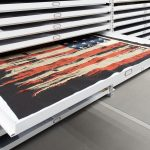 off-site museum flat file flag collection storage