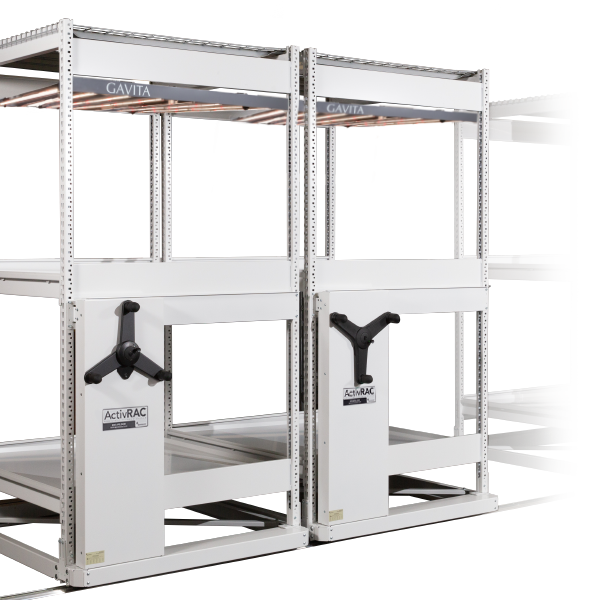 vertical heavy duty mobile shelving spacesaver system