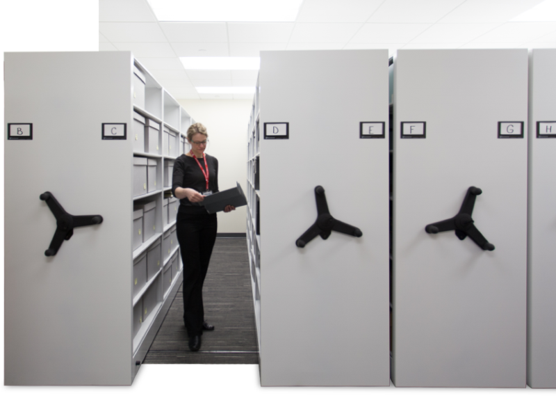 secure archival library storage