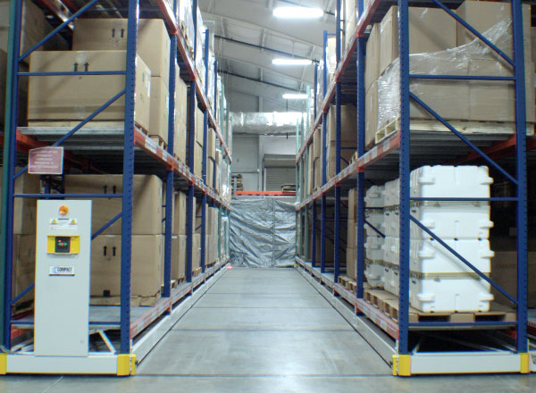 warehouse pallet racking system military inventory