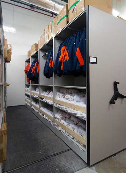 baseball stadium equipment room game day storage