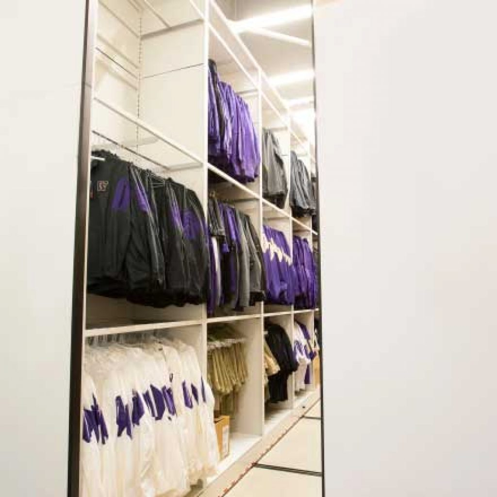 football equipment hanging bar uniform storage
