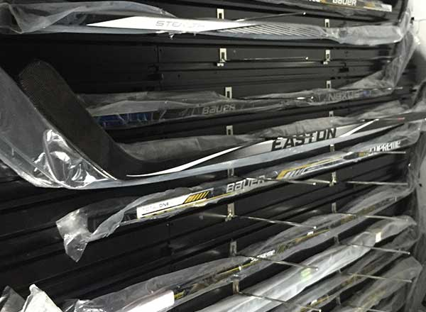 hockey stick equipment storage