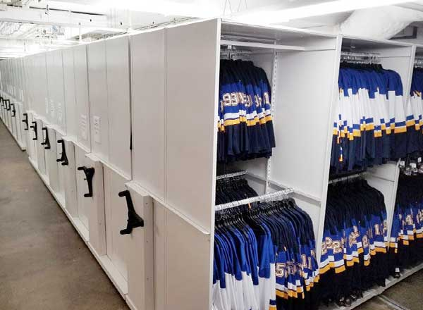 professional team game day uniform storage