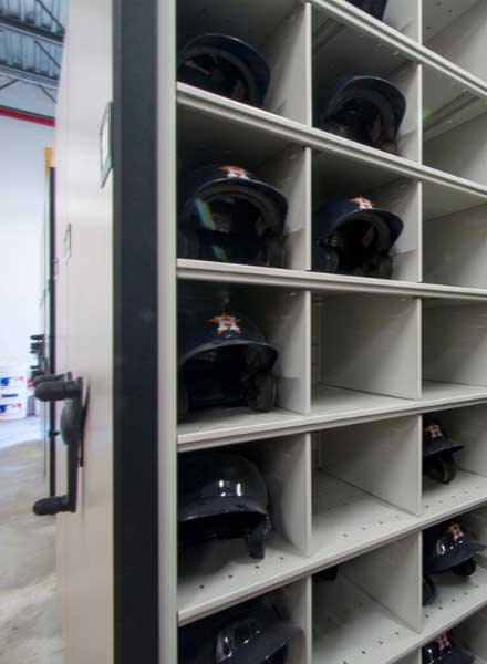 professional baseball helmet equipment storage