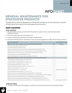 download info sheet general maintenance and cleaning of products