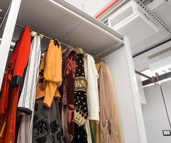 fashion museum hanging collection storage solutions