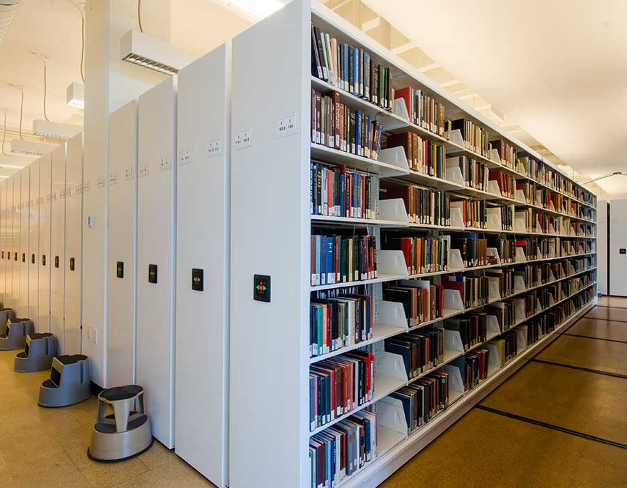 library mobile book shelving systems spacesaver