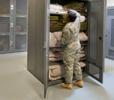 military portable gear lockers