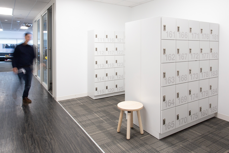 open office secure personal items highend lockers