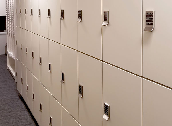 campus health center secure personal lockers
