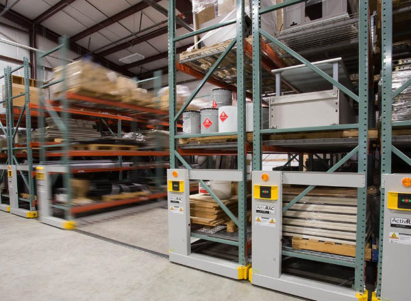 campus supply storage warehouse shelving system