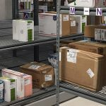 campus mail room secure storage mobile shelving