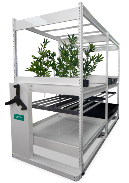 cannabis indoor growing lighting hvac mobile table integration