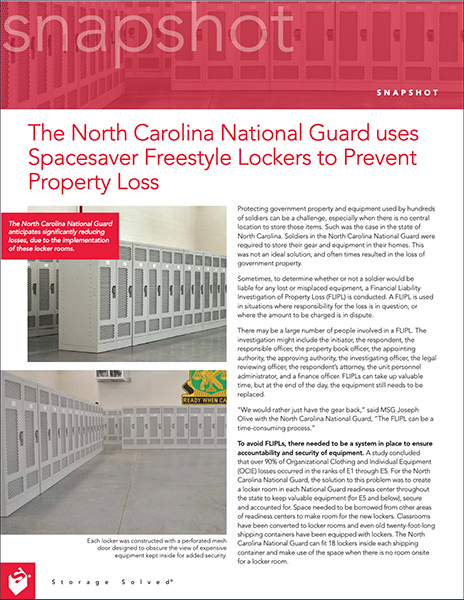 download case study on NC national guard locker room